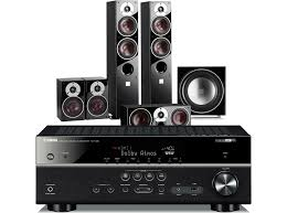 most powerful home theater receiver yamaha rx v683 av receiver w dali zensor 5 speaker package 5 1
