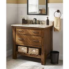 Granite Top Bathroom Vanity by Patmore Mocha Glaze 37 In Undermount Single Sink Bathroom Vanity