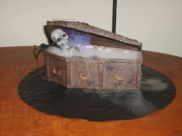 Halloween Decorations Coffin The Halloween Countdown Decorating Our Home The Mapless Traveler