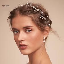 bridal headwear by handmake pearl rhinestone wedding bridal headband