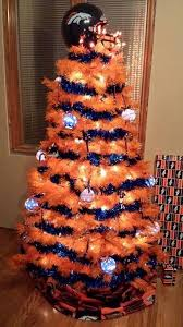denver bronco tree orange and blue typical fans
