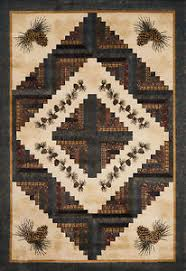 Pine Cone Area Rugs Donna Sharp Pine Cone Country Log Cabin Quilt Pattern Area Rug 4