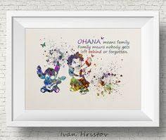 lilo stitch poster disney art lilo pelekai watercolor film