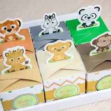 baby shower favor boxes aliexpress buy 12pcs baby shower favors safari animal