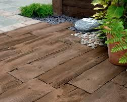 outdoor tile for floors wooden concrete woodstone sleepers