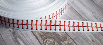 baseball ribbon baseball ribbon 7 8 grosgrain 3 or 5 yard lot baseball