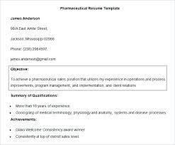Pharmaceutical Resume Template Sample Resume Pharmaceutical Sales Sales Resume Objective Sample