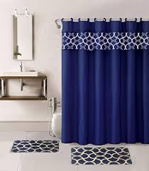 Navy And Red Shower Curtain Navy Blue Shower Curtain With Rug And Racks And Mirror Bathroom