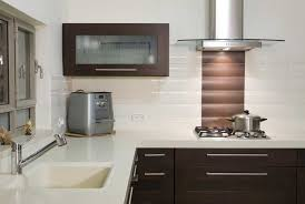 modern backsplash for kitchen kitchen simple white and brown list tiles arrangment for kitchen