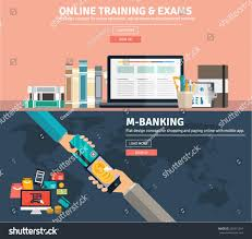 global money transfer flat design concepts business education training stock vector