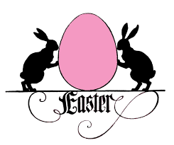 vintage easter images bunnies with egg silhouettes the