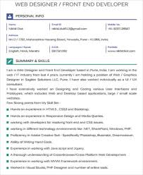 Front End Developer Resume Gallery Creawizard Com All About Resume Sample