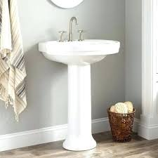 cost of pedestal sink pedestal sink towel bar amazing bathroom fxteamclub small within 17