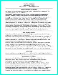 Sample Project Manager Resumes by Construction Project Manager Resume Free Resume Example And