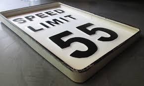 deco plaque metal plaque speed limit 55 epaisse tole publicitaire metal deco
