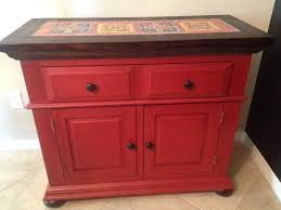 broyhill fontana tile server refinished chalk paint and spanish