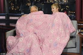 Rhod Gilbert Duvet Jennifer Lawrence Leaves David Letterman Lost For Words As She