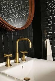 tribal black bathroom eclectic style bath room and custom furniture