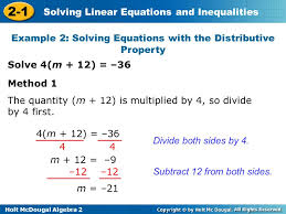 2 1 solving linear equations and inequalities warm up ppt video