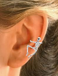 cuff earrings skeleton ear cuff earring non pierced left ear cartilage wrap