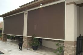 Outdoor Patio Pull Down Shades Sunset Canvas U0026 Awning Fabric Awnings Retractable Awnings