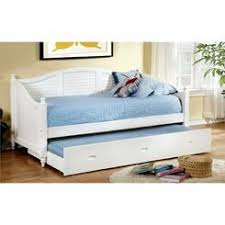 coaster daybed white trundle bed