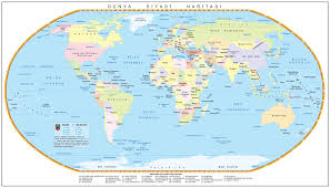 map of tge world large world political map
