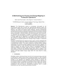 Energy Flow In Plants Concept Map A Methodology For Process And Energy Mapping In Production