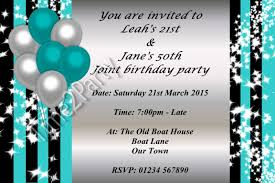 personalised birthday party invitations single joint 21st 30th