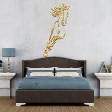 funlife 3d horse wall sticker diy wall poster mirror wall stickers funlife 3d horse wall sticker diy wall poster mirror wall stickers home decor living room plastic home decoration accessories in wall stickers from home