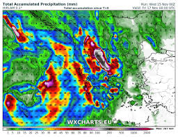 Rainfall Totals Map Torrential Rainfall And Floods For Greece In The Next 3 4 Days