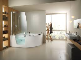 furniture modern shaped corner bathtub with clear glass bath