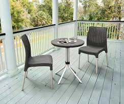 Grey Bistro Table Keter Chelsea 3 Resin Outdoor Patio Furniture