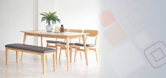 benise scandinavian 6 seater dining set 1 1600 table 3 chairs