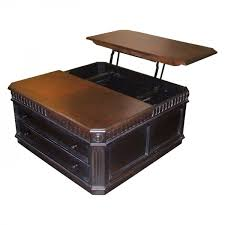 Leather Coffee Table Storage Square Leather Coffee Table With Storage With Unique Pop Up Top