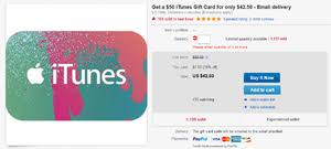 how much are gift cards paypal is offering digital itunes gift cards with a 10 to 15