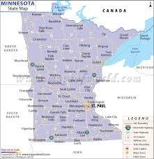 map mn minnesota state map