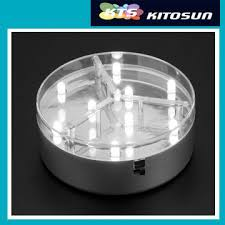 4 led lights mirror circle 3aa battery operated 4inch mirror center round led centerpiece light