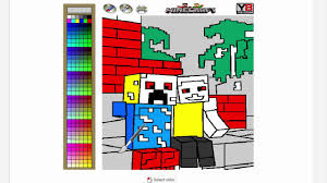minecraft coloring game free online games on y8 com playtrygame