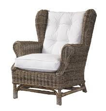 wingback chair blue rattan chair inexpensive wicker chairs