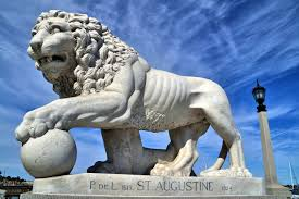 statue lions medici lion statue on bridge of lions in st augustine florida