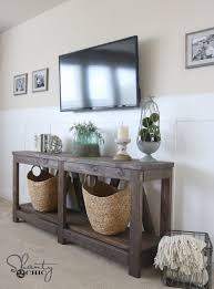 console tables good looking wood table plans free console with