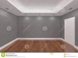 home interior rendering with empty room color wall stock