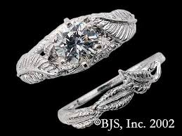 14k palladium white gold nenya galadriel s elven ring of power from the lord of the rings