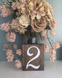 wedding table numbers double sided single sided wood table numbers