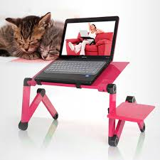 Laptop Desk Bed Ships From Us Portable Folding Laptop Desk White Metal Notebook