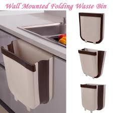 wall hung kitchen cabinets wall mounted folding waste bin kitchen cabinet door hanging trash bin small buy at a low prices on joom e commerce platform