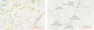 Nokia Maps Mapping The New Ibadan Crescent Google Maps Vs Nokia Maps