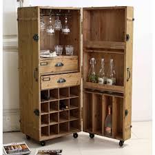 appendi bicchieri bar mobile bar country in legno con portabicchieri e portabottiglie