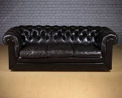 Black Leather Chesterfield Sofa Antiques Atlas Vintage Black Leather Chesterfield Sofa C 1970